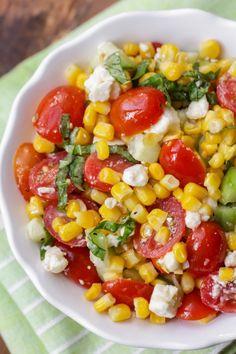 Corn Tomato Salad, Tomato Dishes, Tomato Basil, Corn Salad Recipes, Corn Salads, Vegetable Salads, Corn Salad Recipe Easy, Summer Corn Salad, Summer Salads