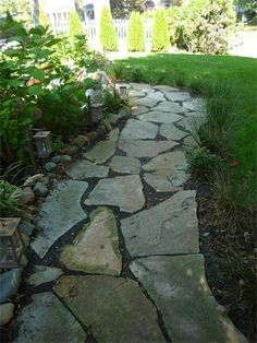 Stone Walkway add ground cover