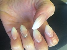 Baby boomer nails glitter Diamantés gems acrylic love beautiful