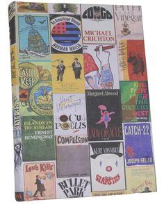 Diário de colagens de capas de livros da Out Of Print.