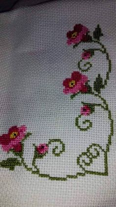 The most beautiful cross-stitch pattern - Knitting, Crochet Love Cross Stitch Letters, Cross Stitch Borders, Cross Stitch Rose, Cross Stitch Samplers, Modern Cross Stitch, Cross Stitch Flowers, Cross Stitch Designs, Cross Stitching, Cross Stitch Embroidery