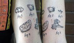 how to make hummus, via a tattoo. love food tattoos.