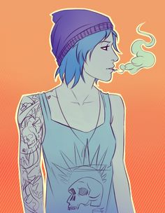 Chloe - life is strange      http://marin-everydaybox.tumblr.com/post/126192126591/hey-there-chloe-trying-out-krita-sketching-some