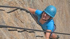 A big smile peeking out under her helmet during our rock climbing section on Fidalgo Island and Mt. Erie.