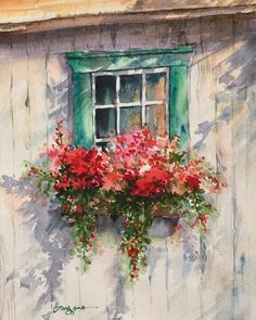 Watercolor Paintings Capture the Captivating Colors of Springtime in California Pinturas em aquarela de Jungsook Hyun Watercolor Painting Techniques, Watercolour Painting, Watercolor Flowers, Painting & Drawing, Drawing Flowers, Watercolors, Drawing Techniques, Watercolor Sketch, Watercolor Animals