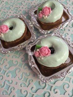 Mint Green Shabby Chic Mini Donuts