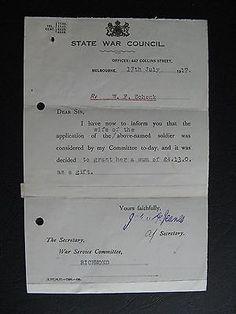 WW1 ANZAC SERVICEMAN     W F Schenk of RICHMOND