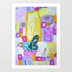 Spring Garden Art Print by thebutterflycollector - $20.00
