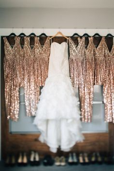 A divine wedding with stylish details you could quite easily replicate in a glitter wedding or party of your own.