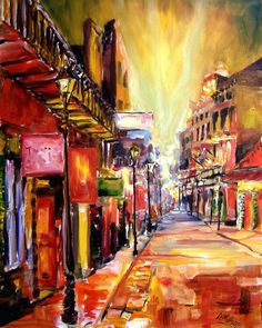 Bourbon Street Dazzle Painting at ArtistRising.com20x24 or 36x48  starting 199 framed