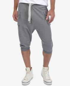 2(x)ist Athleisure Men's Cropped Cargo Pants - Gray L