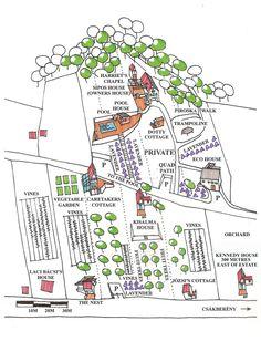 Property Map of Vineyard and Cottages Lavender Cottage, Cottages, Vines, Vineyard, Map, Budapest Hungary, Restaurants, Hotels, Shops