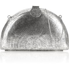 From St Xavier Sheba Metal Clutch- Silver ($185) ❤ liked on Polyvore featuring bags, handbags, clutches, silver, travel handbags, silver handbags, floral clutches, floral handbags and travel purse