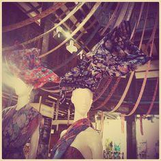 Shop display at #Liberty #London #fabric #colour