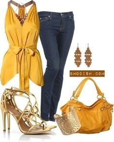 New Ideas Party Outfit Jeans Shirts Gold Outfit, Outfit Work, Gold Dress, Outfit Jeans, Hijab Outfit, Big Fashion, Fashion Outfits, Womens Fashion, Gold Fashion