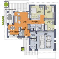 Rzut projektu 20x30 House Plans, Architecture Design, Floor Plans, Construction, House Design, Flooring, How To Plan, Building, Bungalows