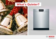 What's quieter: jingle bells or a Bosch dishwasher?