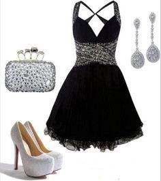 Silver Short Prom Dresses | ... dress-black-dress-short-prom-dress-black-silver-silver-shoes-prom.jpg