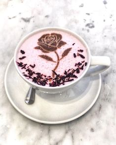 Rose Latte Coffee in