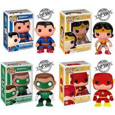 Set of Justice League Pop Vinyl