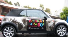 British Art of the 60s, Tate Britain, National Gallery of Victoria Exhibition, MINI, AutoSkin, Vehicle Wrap