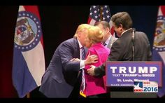 Donald J. Trump and Phyllis Schlafly at the Trump Rally in St. Louis, MO on 3-11-16.