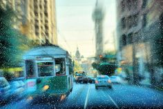 McKinney Avenue Trolley Christmas Snow Dallas Texas 39934