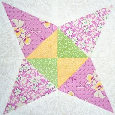 Sugar Cone Block Tutorial from Eleanor Burns Block of the Month Video