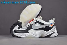 f4941f780ee New Arrival Women s Off-White x Nike M2k Tekno AO3108-062 White Black Gray