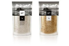 mighty rice - Google Search Rice Packaging, Cool Packaging, Food Packaging Design, Packaging Design Inspiration, Brand Packaging, Graphic Design Inspiration, Product Packaging, Organic Packaging, Glass Packaging