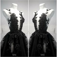 Strapless Lace Wedding Dress, Tea Length Wedding Dress, Black Wedding Dresses, Princess Wedding Dresses, Lace Evening Dresses, Ball Dresses, Ball Gowns, Prom Dresses, Goth Dress