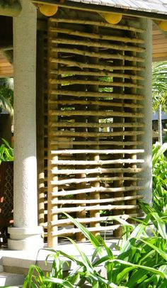 DYI Cool Privacy Bamboo Screen........