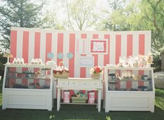 Fun event idea! Nod to a french theme without being obvious.  amorology: dessert bar