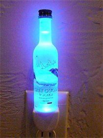 mini liquor bottle night lights....www.jennsthisandthat.com