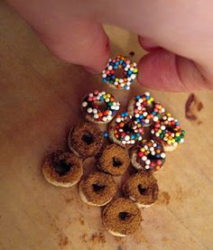 Elf doughnuts. They're Cheerios that you decorate to leave for Santa to give his elves :) awesome!!!