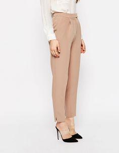 Bild 4 von ASOS TALL – Schmale, luxuriöse Hose mit Schlitz
