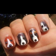 Dog Unique Nail Design. See more at http://www.naildesignsforyou.com | http://www.naildesignsforyou.com/unique-nail-designs-nail-art-ideas/ #nails #naildesigns #nailart #uniquenaildesigns #uniquenails #uniquenailart
