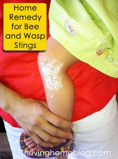 Every mom needs this in their bag of tricks! One simple household ingredient that makes a sting feel better fast. Also Apple cider vinegar just tried it and it brought immediately relief to the pain. Wasp Stings Relief, Bee And Wasp Stings, Red Wasp Sting, Remedies For Bee Stings, How To Get Faster, Bees And Wasps, Health Remedies, Holistic Remedies, Beauty