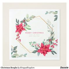 Shop Christmas Boughs Napkins created by KrispysKingdom. Holiday Cards, Christmas Cards, Merry Christmas, Christmas Paper Napkins, Ecru Color, White Elephant Gifts, Art Pieces, Christian Christmas Cards, Christmas E Cards
