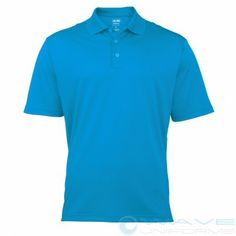 Adidas Mens ClimaLite pique short sleeve Polo available on wave uniforms dot com