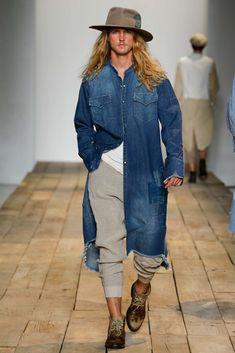 Greg Lauren Spring 2016 Menswear Fashion Show Bohemian Style Men, Boho Man, Style Masculin, Fashion Show, Fashion Trends, Fashion Details, Spring Summer 2016, Denim Fashion, Street Fashion