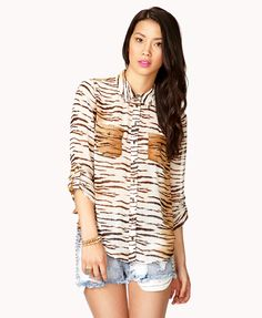 0c9b771dc Button Down Shirts Edgy Girls, Isnt She Lovely, Tiger Stripes, Online  Shopping Shoes