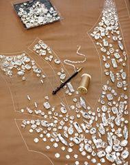 как пришить кристаллы