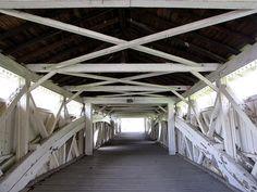 By bobindrums, via Flickr.  Inside Bogert's Covered Bridge at Little Lehigh Park in Allentown, PA.