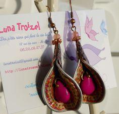 boucles d'oreilles en vente sur mon blog