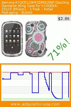 Asmyna KYOC5120HPCDM015NP Dazzling Diamante Bling Case for KYOCERA: C5120 (Milano) - 1 Pack - Retail Packaging - Bubble (Wireless Phone Accessory). Drop 71%! Current price $2.86, the previous price was $9.99. https://www.adquisitio-usa.com/mybat/bubble-diamante-protector-8