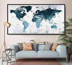 New Large Wall Art Push Pin World Map Poster Print - Extra Large Navy Blue World Map White Background Wall Art Poster Print online shopping - Wehaveover World Map Bedroom, World Map Wall Decor, World Map Wall Art, World Map Poster, World Maps, Wall Art Prints, Poster Prints, Push Pin World Map, Decoration