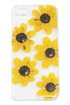 To say that we are obsessed with these gorgeous phone cases would be an understatement! We love the unexpected combo of real, dried flowers mixed with modern technology. The clear case allows the beau Iphone 3, Coque Iphone, Iphone Cases, Cute Cases, Cute Phone Cases, Portable Apple, Mellow Yellow, Bright Yellow, Iphone Accessories