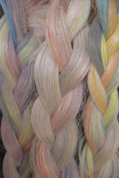 Pastel braids.