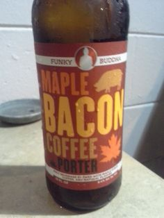 Funky Buddha's Maple Bacon Coffee Porter.  Amazing beer, all listed flavors are there and prevalent.  9.1 ABV